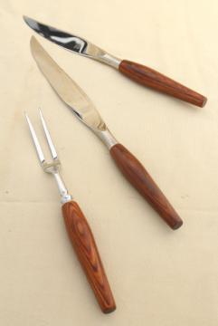 mod vintage Mode Danish carving knife set, Sheffield England stainless steel blades