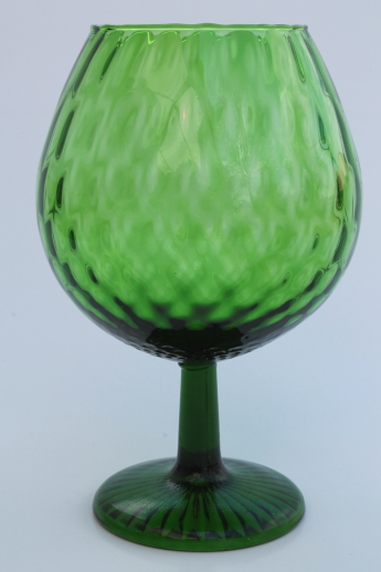 Mod Vintage Brandy Snifter Vases Big Brandy Glass Vases In Green