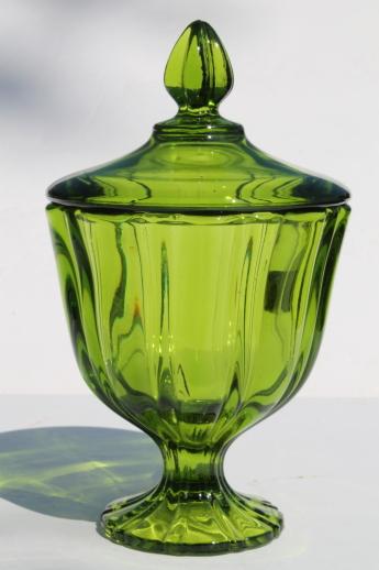 Viking Range Parts >> Mod vintage genie jar colored glass candy dishes - blue ...