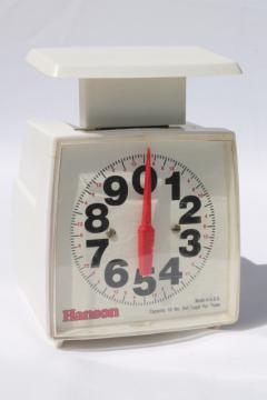 Mod vintage Hanson platform produce / kitchen scale, 10 lb scale w/ large clear numbers