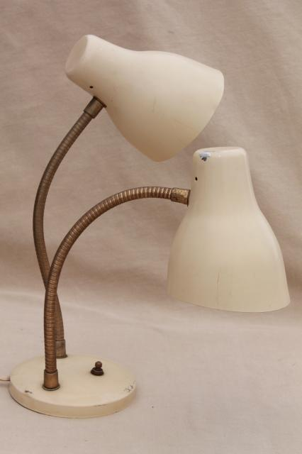 mod vintage industrial style twin flexible gooseneck reading lamp task light