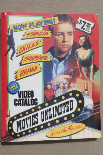 Movies Unlimited video catalog vintage 1992, huge wish ...