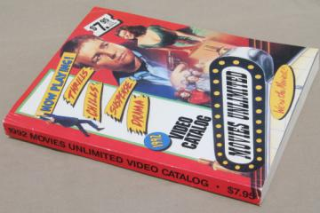 Movies Unlimited video catalog vintage 1992, huge wish book 600+ pages!