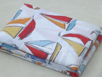 Nautical sailboat print Company Store pure cotton sheeting fabric duvet cover