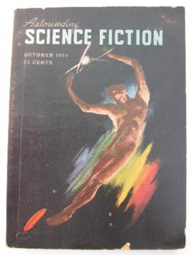 Old 1949 Astounding Science Fiction sci-fi magazine,L Ron Hubbard/Poul Anderson