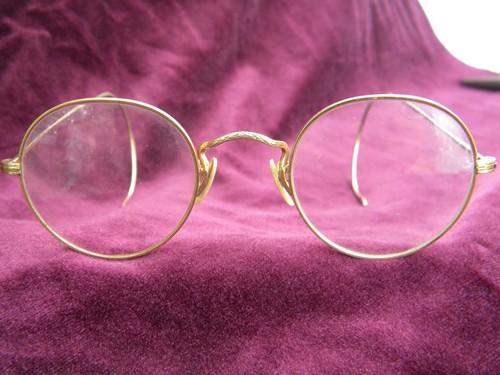 Old antique gold rimed spectacles or eyeglass frames for Art craft eyeglasses vintage