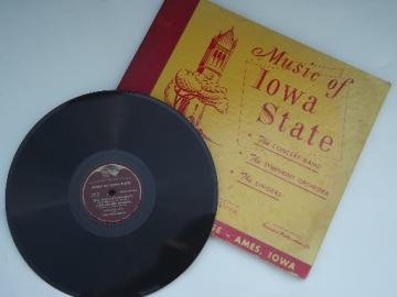 Old Iowa State College varsity football/basketball fight songs records