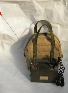 Old Motorola Handie-Talkie PT-300 lunchbox walkie-talkie radio transceiver