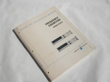Operating & service manual HP Frequency Counters 5326C/5327C