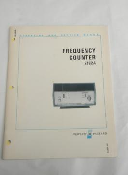 Operating & service manual HP Frequency Counters 5382A