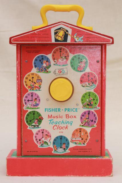 Original 60s 70s Vintage Fisher Price Toy Schoolhouse