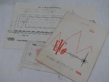 Original EICO HFT-92 vacuum tube AM-FM stereo radio tuner manual w/drawings etc.