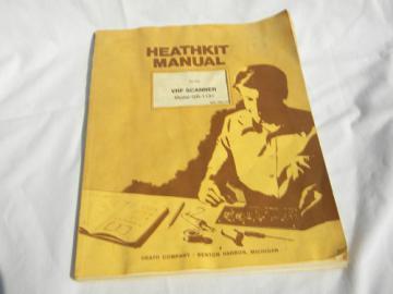 Original vintage Heathkit manual VHF scanner GR-1131 drawings etc.