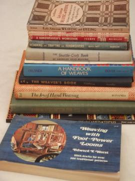 Out of print hand weaving books, instruction guides & vintage patterns