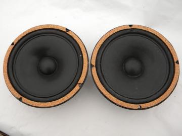 Pair 8'' Bozak B-800BC audio speakers, 1970s disco vintage