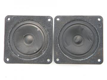 Pair of 3'' 8 ohm 746 Bozak tweeters speakers, 1970s disco vintage