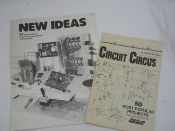 Pair of vintage electronics project books DIY Tesla coil, audio pre-amp etc.
