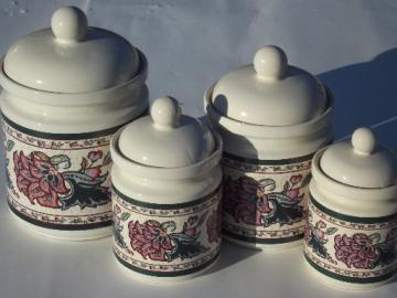 Paisley Garden kitchen canisters set, Preferred Stock ceramic