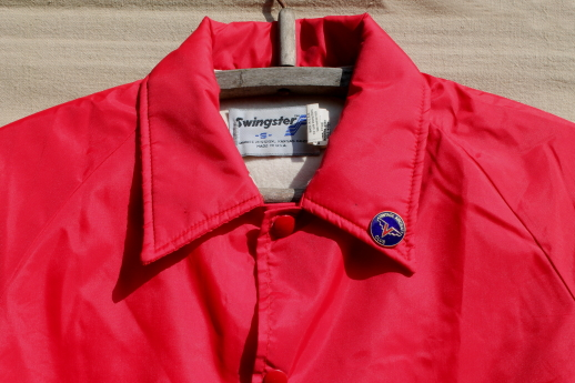 Pilot's vintage Cessna 170 windbreaker jacket w/ aircraft club pin