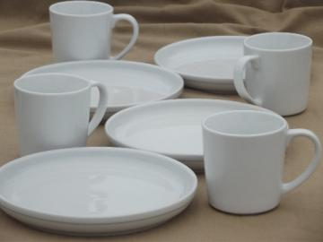 Plain pure white Crate & Barrel ironstone, France & Culinary Arts China