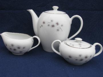 Platinum Star Burst, mod starburst Creative  china Japan tea coffee set