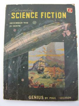 Pulp vintage Dec 1948 Astounding Science Fiction magazine, Poul Anderson