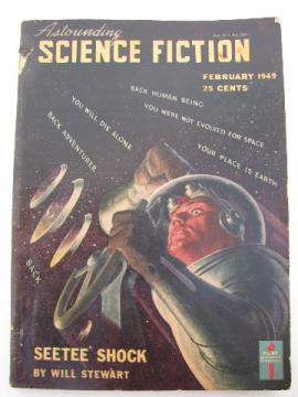 Pulp vintage sci-fi stories magazine, Astounding Science Fiction - Feb, 1949