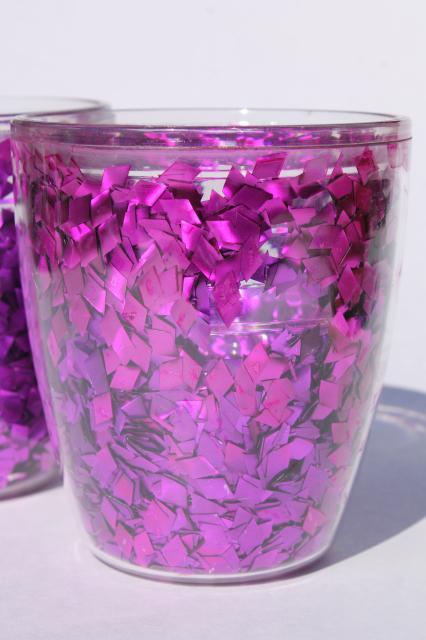 Purple Glitter Flake Confetti Tervis Insulated Plastic
