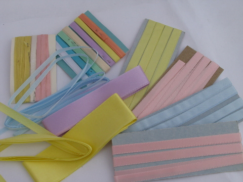 Rainbow colors assorted satin ribbons ribbon rolls old for Craft ribbons and trims
