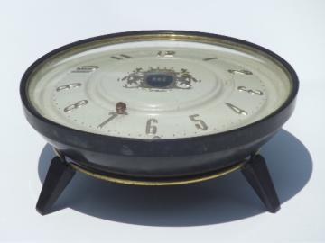 Rare deco vintage Hammond clock without hands, ball bearing clock prototype