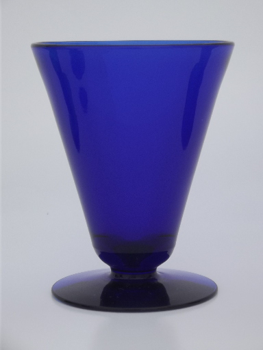 red blue amethyst green colored glass cocktail stemless martini glasses - Stemless Martini Glasses