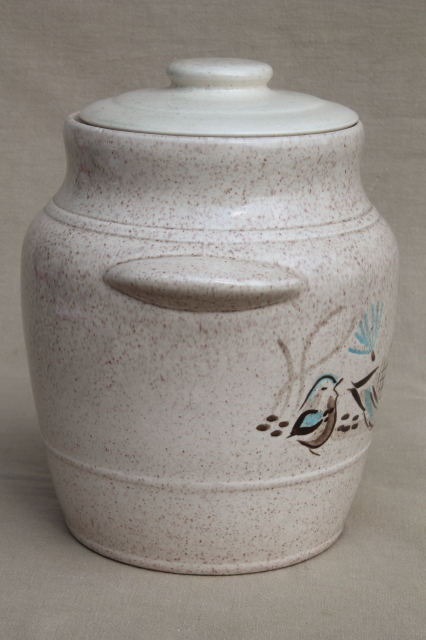 Red Wing Bob White Bird Vintage Pottery Cookie Jar