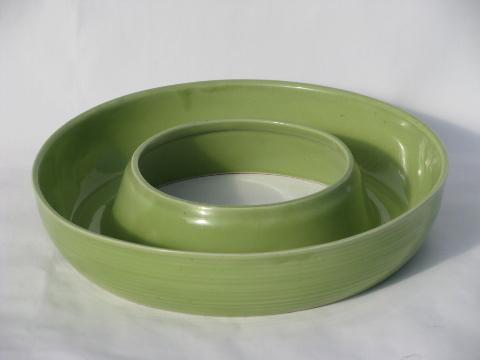 Retro 1950s Art Pottery Ring Centerpiece Vase Planter