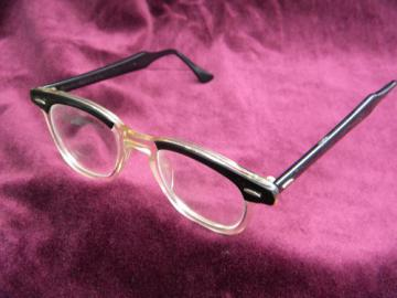 Retro 1950s mid century Bausch & Lomb eyeglasses frames,   Ray Ban vintage