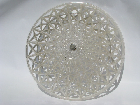 Retro 1950s Vintage Plastic Clip On Lamp Shade For Ceiling Light