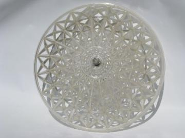 Retro 1950's vintage plastic clip-on lamp shade for ceiling light fixture