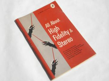Retro 1960s Allied Radio Hi-Fi high fidelity stereo book, lots of photos