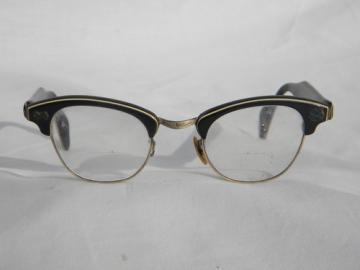 Retro 1960s  cats eye eyeglasses frames, mid century Mad Men vintage