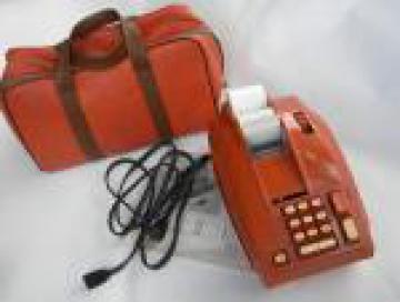 Retro 1960s orange  Sears adding machine/calculator, Mad Men vintage