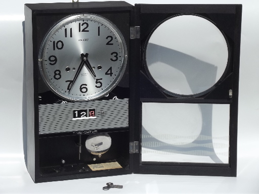 Retro 1960s Seiko Time Dater 30 Day Clock Wind Up Clock W