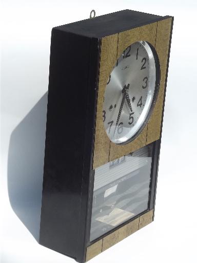 Retro 1960s Seiko Time Dater 30 Day Clock Wind Up Clock W