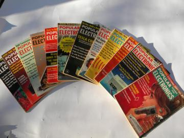 Retro 1964 vintage Popular Electronics magazines w/DIY projects
