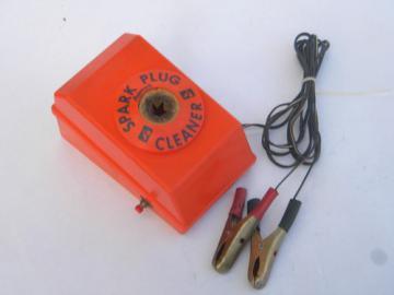 Retro 1970s 12 volt DC spark plug cleaner/sand blaster, hot rod vintage
