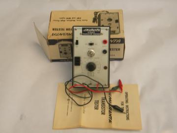 Retro 1970s Radio Shack/Micronta dynamic transistor checker w/manual