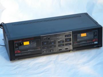Retro 1970s vintage Sansui D-70BW dual cassette tape deck