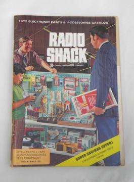 Retro 1972 Allied Radio Shack advertising catalog, speakers, mics etc