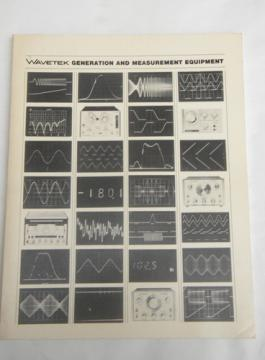 Retro 1974 Wavetek advertising catalog oscilloscope/signal generators