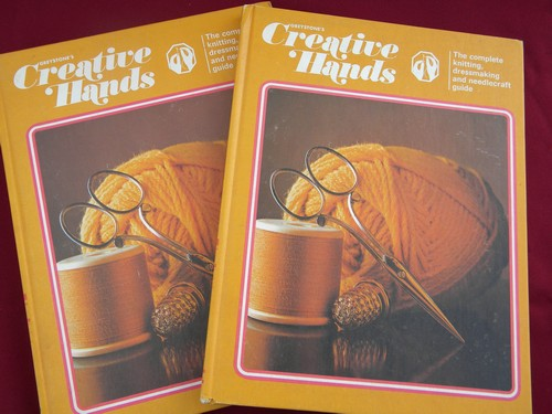 Retro 1975 hippie vintage needlework and crafts books sewing patterns etc