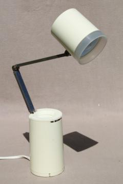 Retro 60s adjustable desk light, vintage folding Lloyd's High Intensity Lamp NA-101 made in Japan