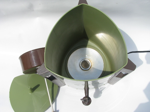 Plastic Free Coffee Maker Electric : Retro 60s electric coffee percolator, green plastic mod triangle shape